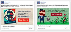 display ad design: two best display ads examples