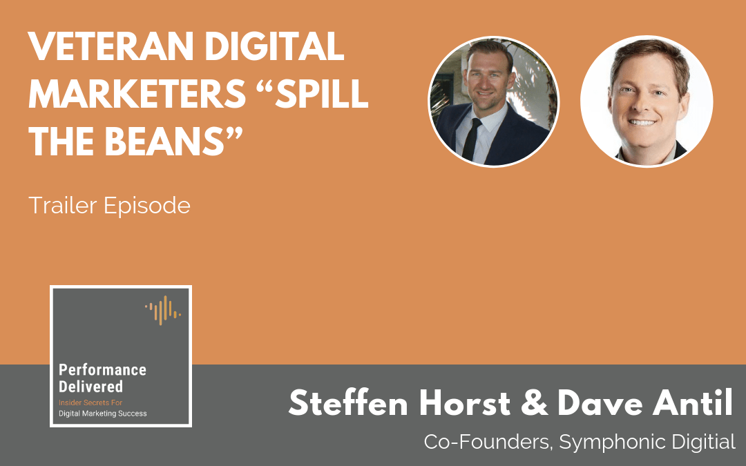 "Podcast Trailer | Veteran Digital Marketers ""Spill the Beans"""