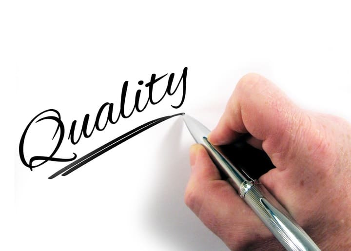 google quality score improvement - the word quality written out
